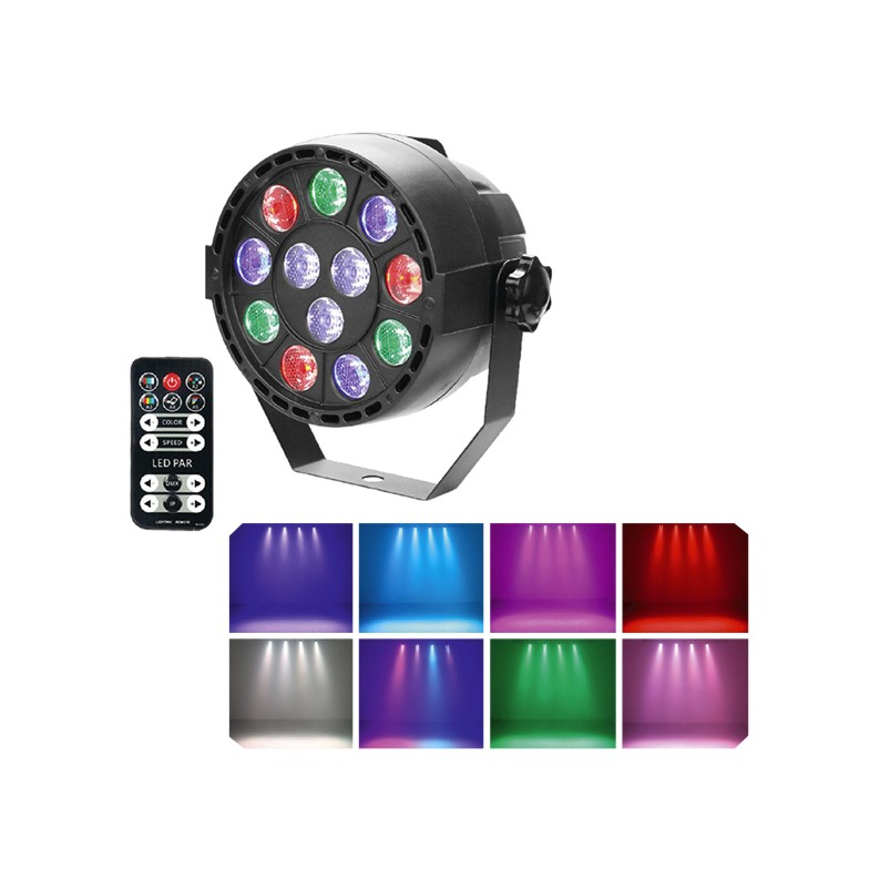 PROJECTEUR LED DMX + TEL + BATTERIE 12X1W