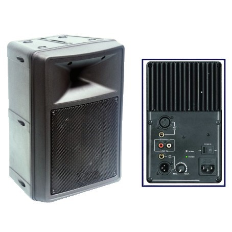 ENCEINTE MOULEE AMPLIFIEE 2 VOIES 180W (pc)