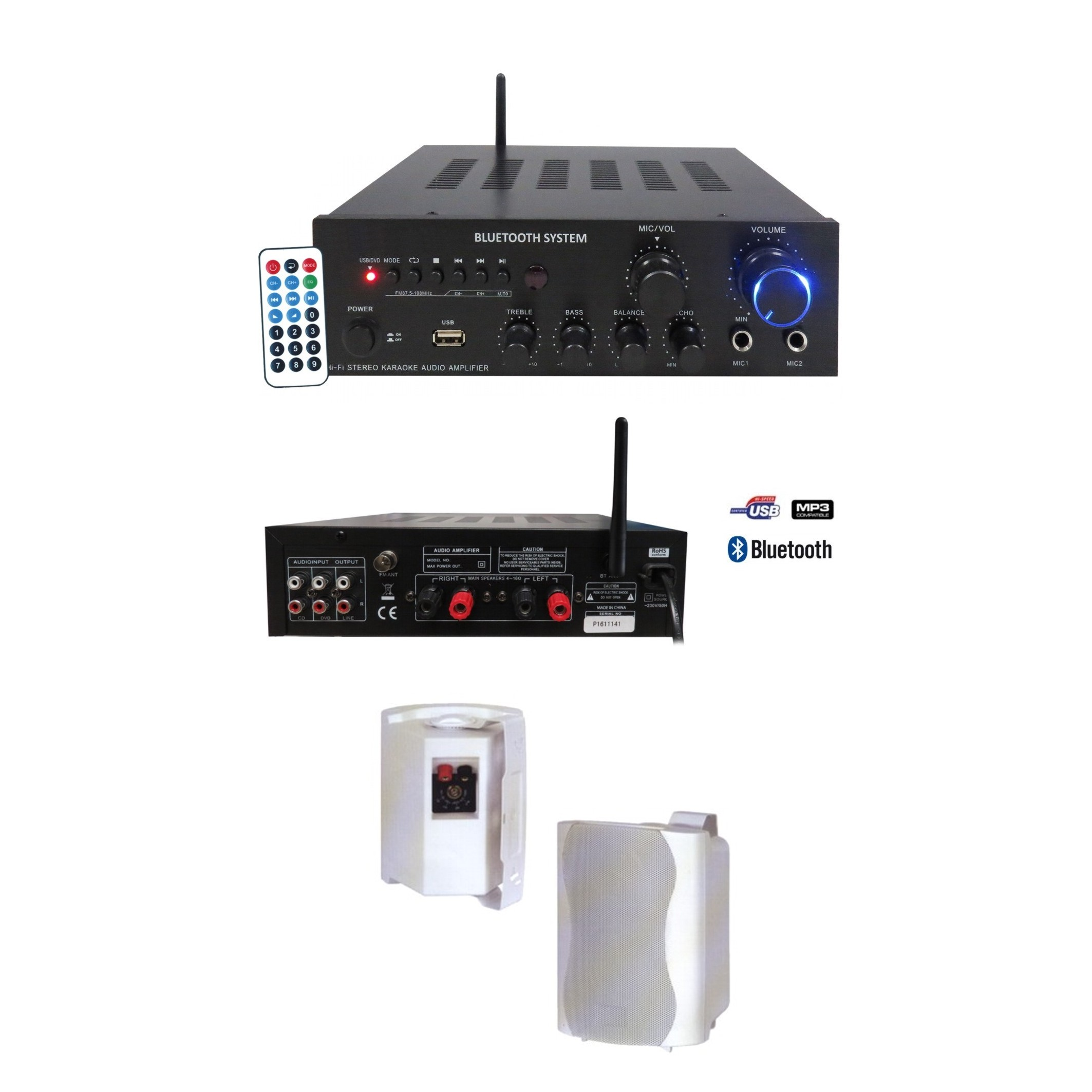 PACK 1 AMPX80/MP3/BT + 1 PAIRE WL45V
